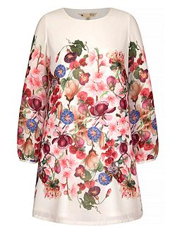 Summer Flower Print Tunic Dress