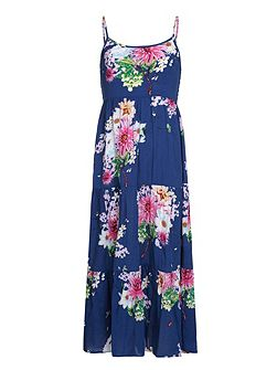 Girls Floral Print Maxi Dress