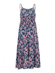 Yumi Girls Girls Ditsy Floral Print Maxi Dress