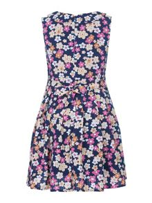 Yumi Girls Girls Floral Print Collar Dress