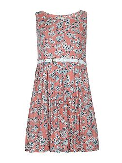 Girls Floral Print Day Dress