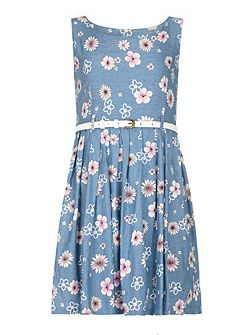 Girls Mixed Floral Print Day Dress