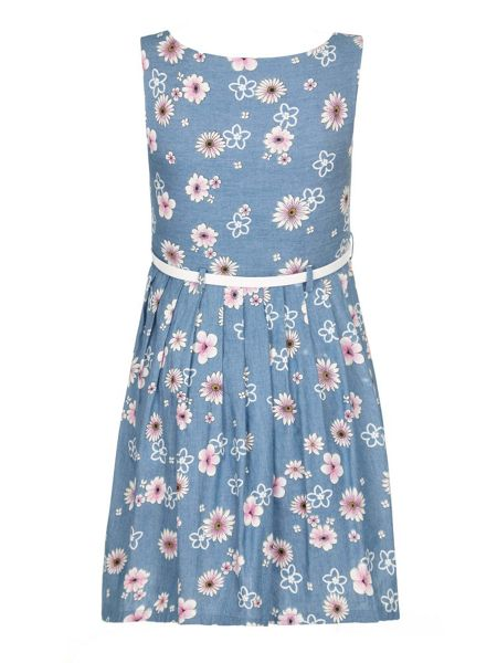 Yumi Girls Girls Mixed Floral Print Day Dress
