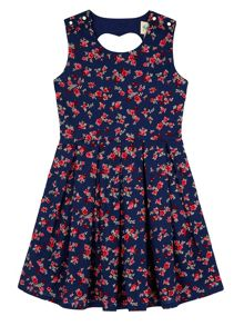 Yumi Girls Girls Ditsy Floral Print Skater Dress