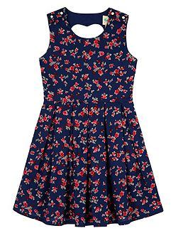 Girls Ditsy Floral Print Skater Dress