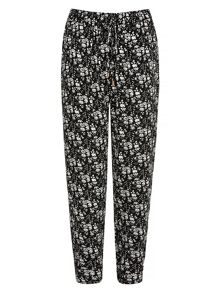 Yumi Floral Print Trousers