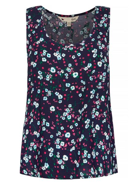 Yumi Posy Floral Print Camisole Top