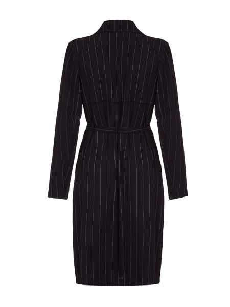 Mela London Pinstripe Trench Coat