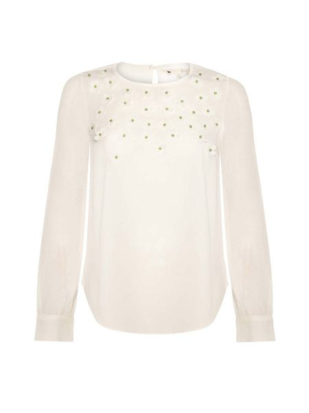 Yumi 3D Floral Embellished Top