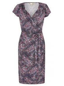 Yumi Tile Print Wrap Dress