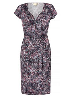 Tile Print Wrap Dress