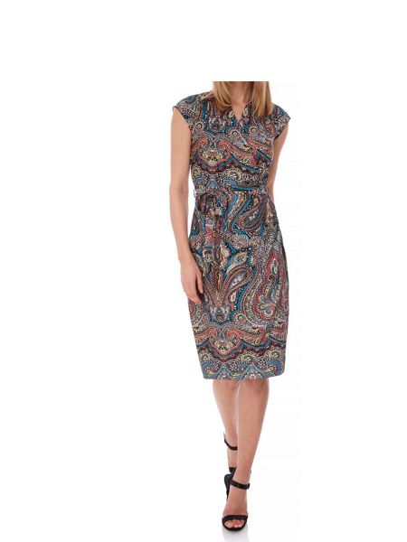 Yumi Paisley Print Wrap Dress
