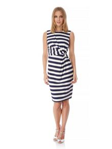 Yumi Stripe Print Sideknot Day Dress