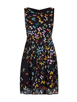 Butterfly Print Day Dress