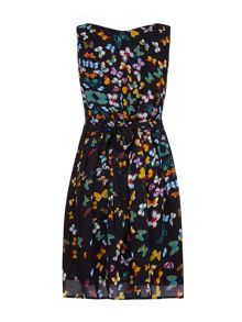 Mela Loves London Butterfly Print Day Dress