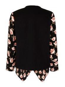 Mela Loves London Peony Print Waterfall Jacket