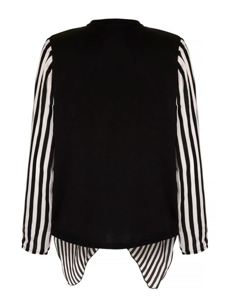 Mela London Stripe Print Waterfall Jacket