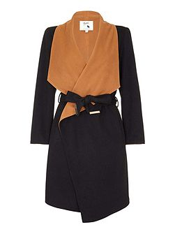 Waterfall Midi Wrap Coat