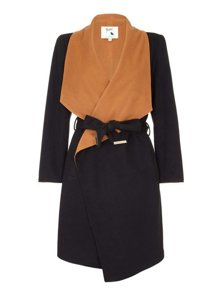 Yumi Waterfall Midi Wrap Coat