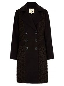 Yumi Lace Double Breasted Coat
