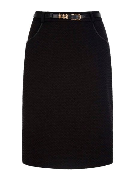 Yumi Textured Skirt With Belt