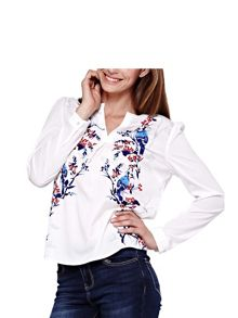 Yumi Floral Bird Printed Blouse