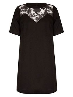 Shift Dress With Floral Detail