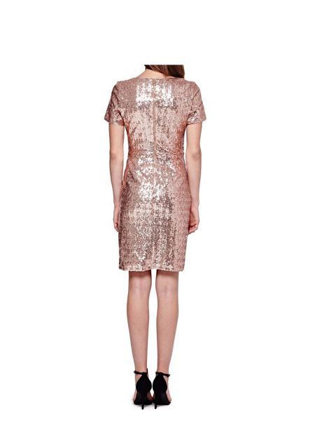 Yumi Sequined Wrap Dress