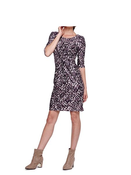 Yumi Flower Print Jersey Dress