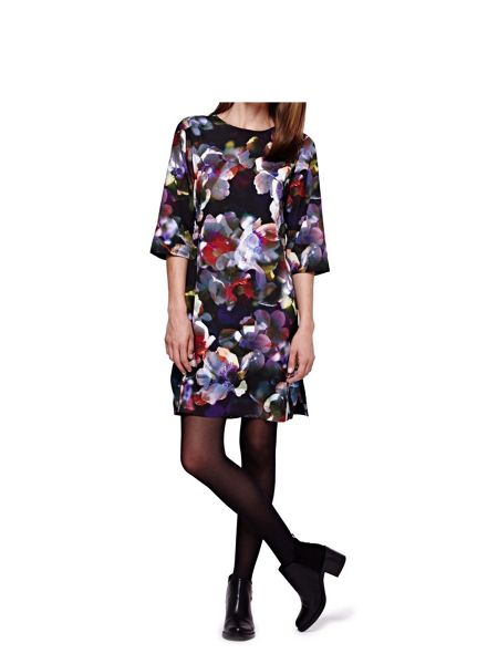 Yumi Cherry Blossom Printed Tunic Dress