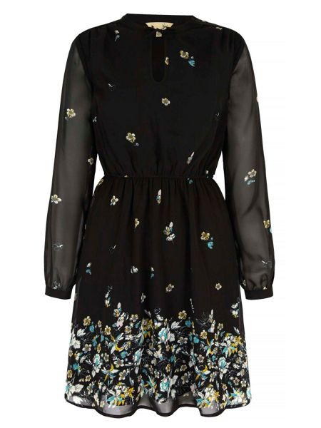 Yumi Floral Long Sleeved Tea Dress