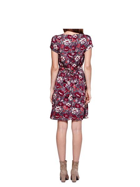 Yumi Skater Dress With Rose Print