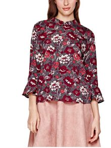 Yumi Rose Printed Blouse
