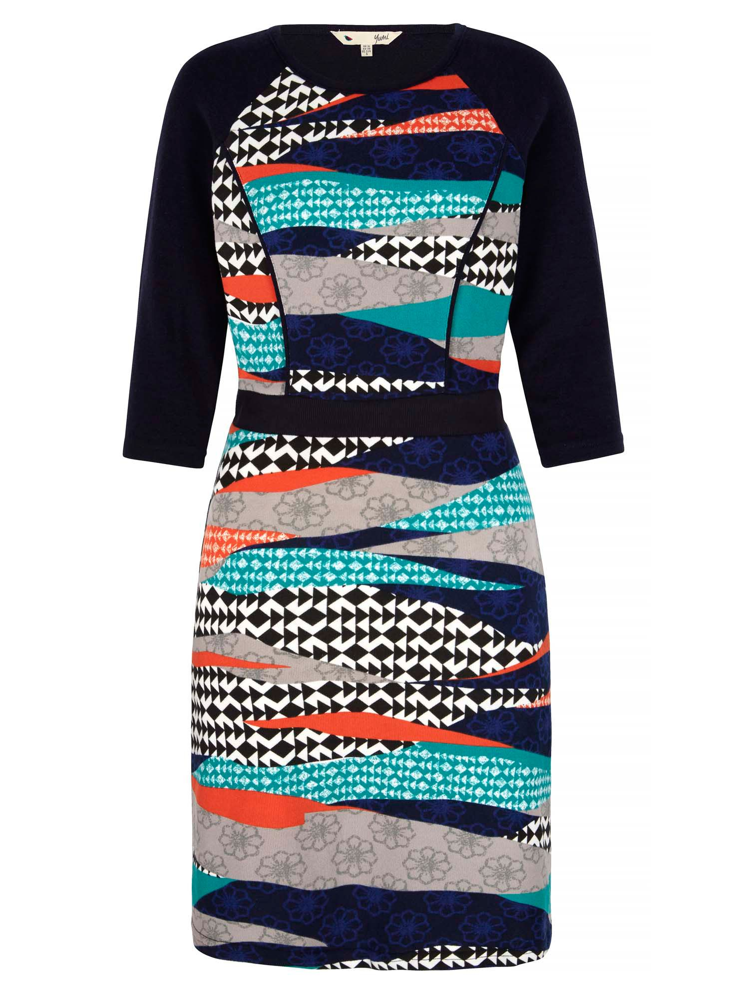 Yumi Graphic Printed Tunic Dress MultiColoured
