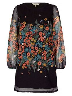 Botanical Printed Tunic Dress