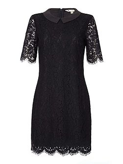 Shift Dress with Lace