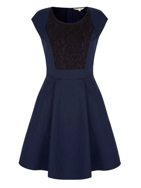 Yumi Lace Detail Skater Dress