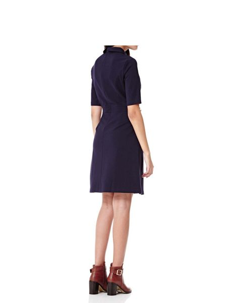 Yumi Navy Shirt Dress With Buttons
