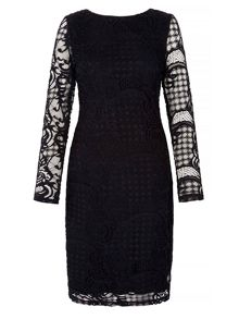 Yumi Bodycon Dress With Lace