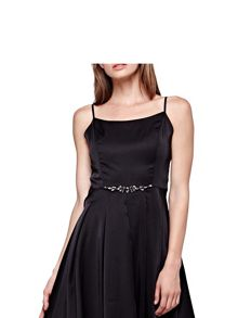 Yumi Strappy Prom Dress With Diamantes