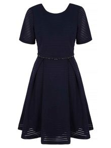 Yumi Skater Dress With Embellishments