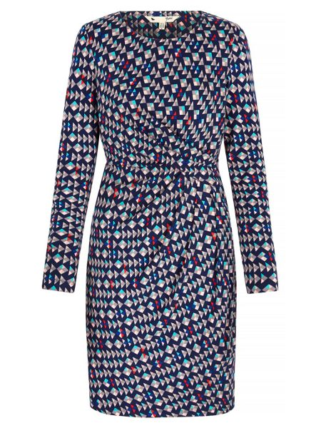 Yumi Mini Graphic Printed Jersey Dress