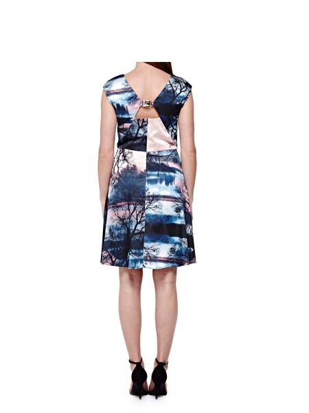 Yumi Sunset Printed Party Dress