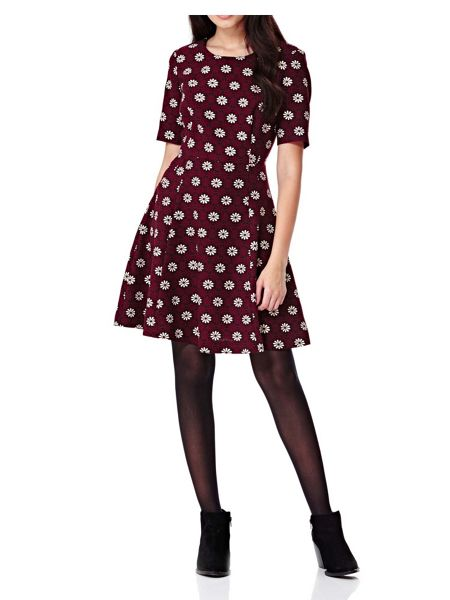 Yumi Daisy Printed Skater Dress