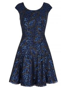 Yumi Sequined Skater Dress