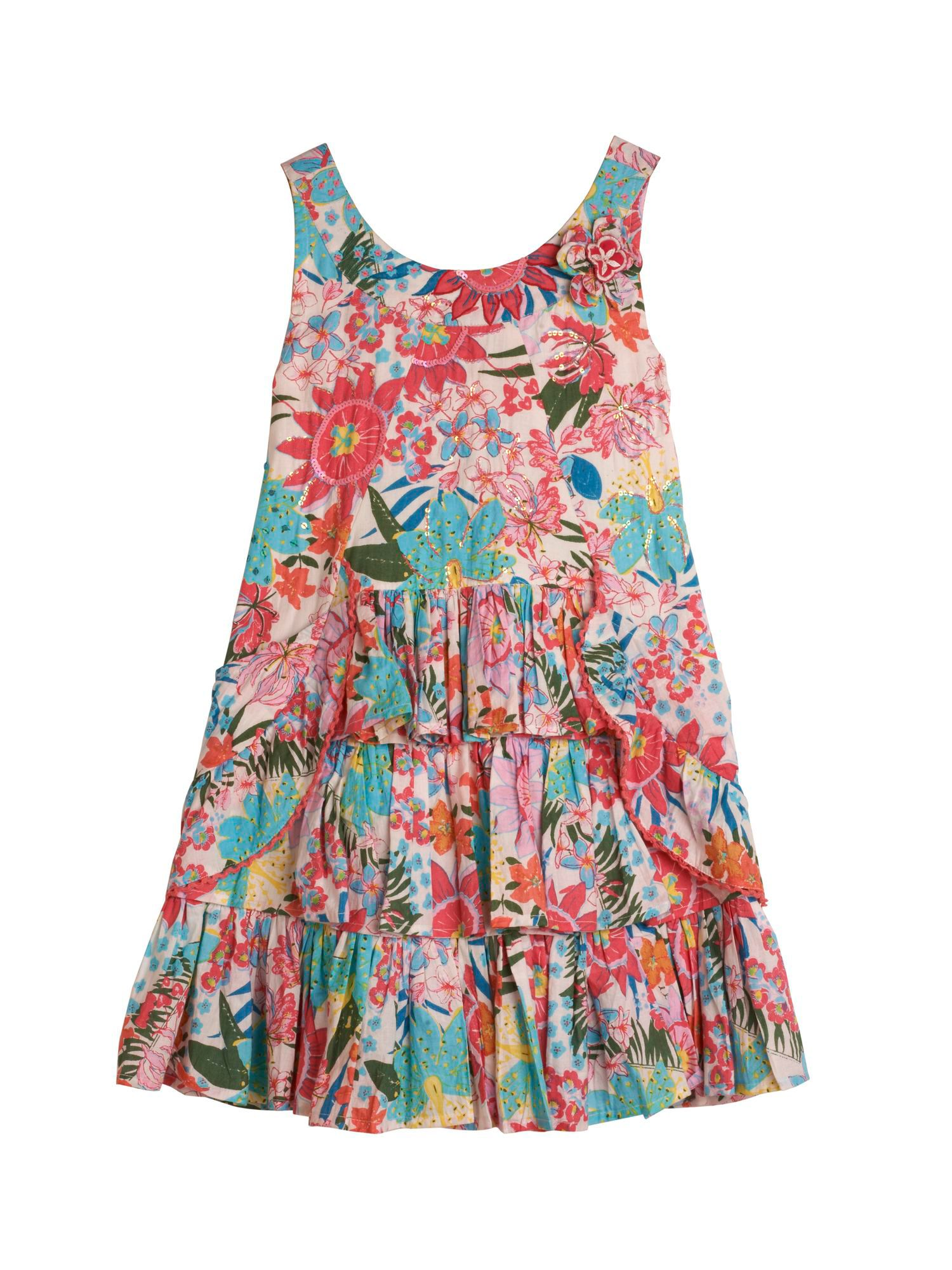 Girl`s Ruffle Dress