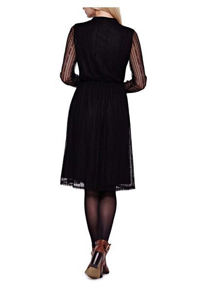 Yumi Long Sleeved Lace Midi Dress