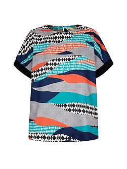 Graphic Printed Shell Top