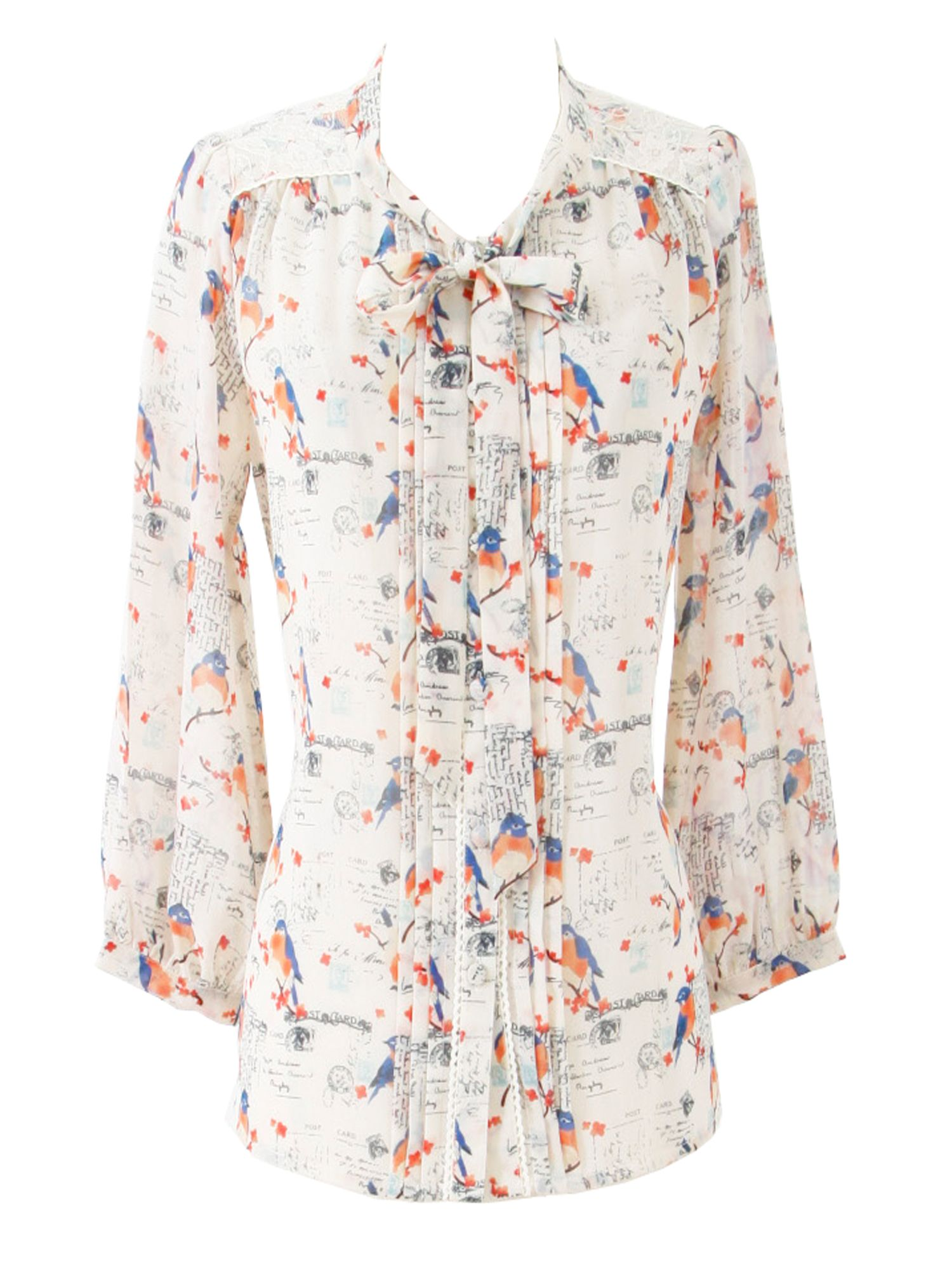 Womens Yumi Laure bird postcard blouse,
