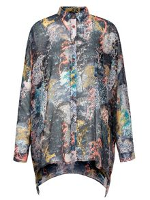 Yumi Tree Printed Oversized Shirt
